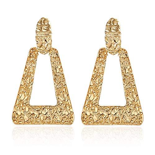 ORCHILD accessories Women Statement Vintage Big Earrings for Women Gold/Silver Geometric Drop Earrings Pendant Female Jewelry Lx047 ()
