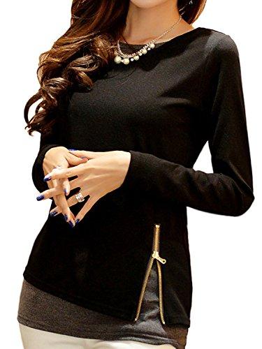ペリスコープ傷つけるセント[アズルテ] チュニック カットソー 長袖 レディース ファッション 重ね着 風 M ~ 4XL 相当 大きいサイズ