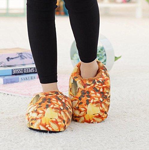 Octobre Elf Adulte Automne Hiver Pantoufles Maison Chaude Chaussures Pain D