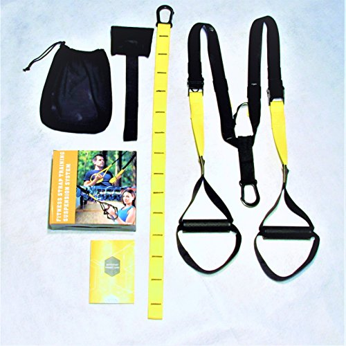 JRST Premium Quality Fitness Suspension Straps for Full Body Work Out for Strength, Flexibility, and Toning Home Exercises