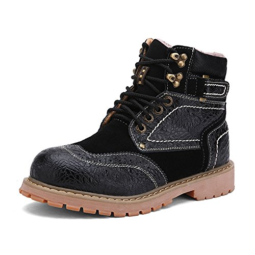Boots 086 Moccasin Leather Industrial Suede Men's amp; Black Work Toe DUODUO Construction qIpxwvt5n