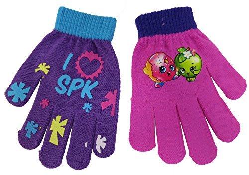 Shopkins Girls 2 Pair I Love SPK Glove Set - Size 4-14 [4013] by Shopkins