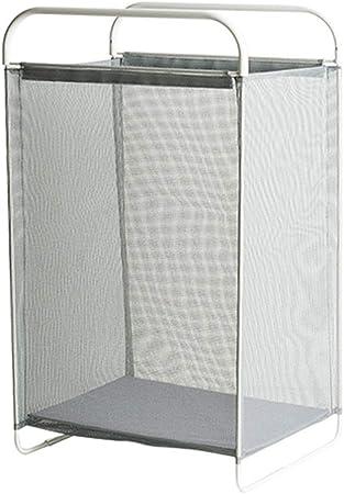 Caja de almacenamiento de alta capacidad, cesta de almacenamiento plegable de tela de metal / nylon con