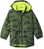 Carter's Little Boys' His Favorite Rainslicker Rain Jacket, Green Dinosaur Print, 5/6