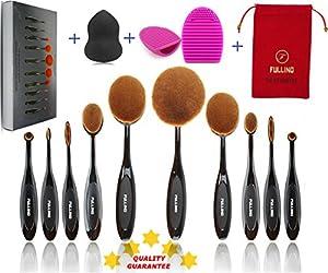 10+3 Luxury Gift Oval Makeup Brush Set - Oval Brush Set - Make Up ...