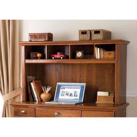 Desk Hutch Abby Oak Finish Furniture Office Furniture Hutches