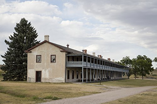 16 x 24 Art Canvas Wrapped Frame Giclee Print of The old cavalry barracks at Fort Laramie National Historic Site Goshen County Wyoming 2015 Highsmith 47a