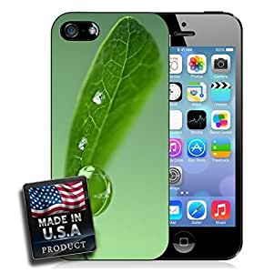 Green Leaf Raindrops Nature Photography iPhone 4/4s Hard Case