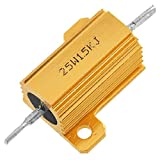 uxcell Chasis Mounted 25W 1.5K Ohm 5% Aluminum Case Wirewound Resistor