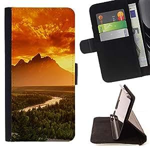 Momo Phone Case / Flip Funda de Cuero Case Cover - Montañas Brillantes;;;;;;;; - Samsung Galaxy S5 V SM-G900