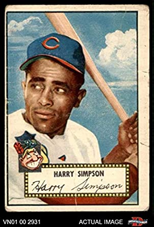 cheaper b6f3f f23a2 Amazon.com: 1952 Topps # 193 Harry Simpson Cleveland Indians ...