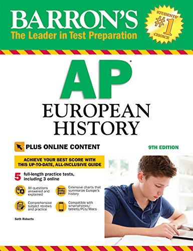 Barron's AP European History, 9th Edition: with Bonus Online Tests cover