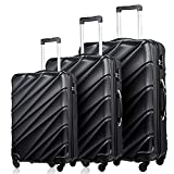 Luggage Sets 3 Piece Travel Bag Hardside Lightweight Spinner Luggage Rolling Trolley Suitcase