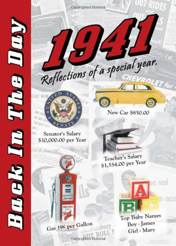 1941 Back In The Day Almanac -- 24-page Booklet / Greeting Card