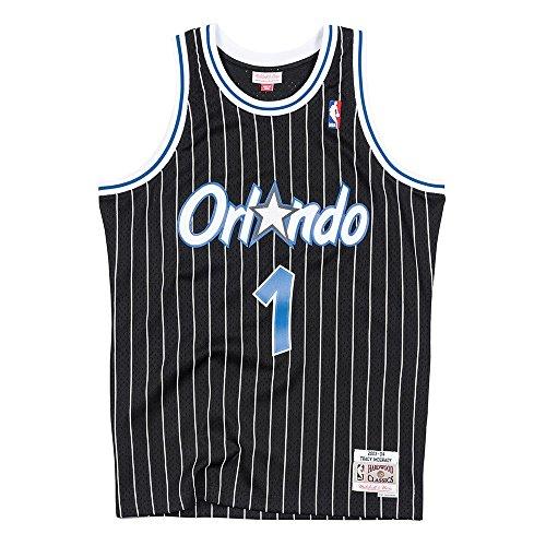 Mitchell & Ness Orlando Magic Tracy McGrady Swingman Jersey NBA Throwback Black (Medium)