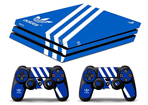 Skin Ps4 PRO - ADIDAS - limited edition DECAL COVER ADESIVA Playstation 4 Slim SONY BUNDLE (Adidas Calcio)