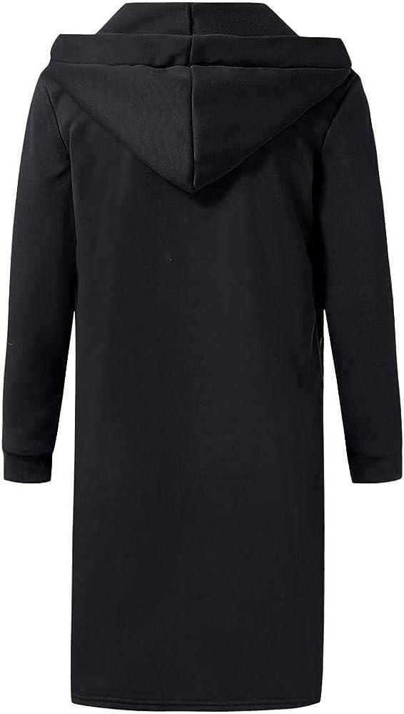 Pea Coat Men Wool.Mens Autumn Winter Casual Hooded Pocket Trench Long Sleeve Outwear Coat Tops