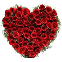 Floralbay Special Heart Shape Arrangement of Red Roses Fresh Flowers