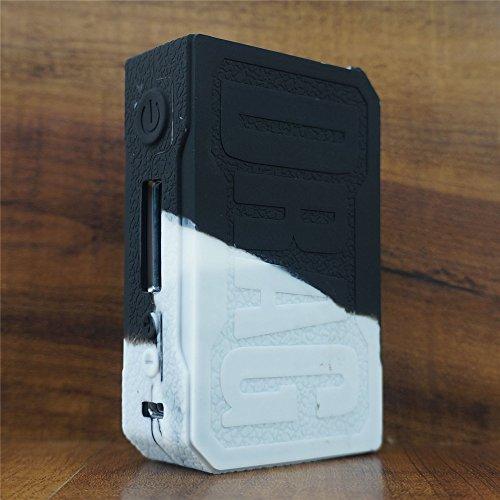ModShield for VOOPOO Drag 157W TC Silicone Case ByJojo Sleeve Cover Wrap  Shield Skin (White/Black)