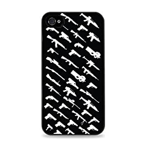 iphone covers 143 Rogue Status Gun Pattern Apple Iphone 6 4.7 Silicone Case - Black