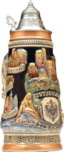 Beer Steins by King - Deutschland (Germany) City Landmarks Relief German Beer Stein Limited Edition by KING