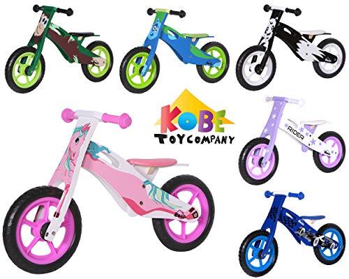 Kobe Wooden Balance Bike – Pink Pony – 12″ Bicycle