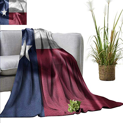 - WinfreyDecor Throw Blanket Anti Bacterial Western for Everyday Use State of Texas Flag Freedom 91