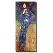 Emilie Floege by Gustav Klimt, 10x24-Inch Canvas Wall Art
