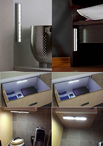 New 2 Pack 10 Led Motion Sensing Closet Light With Sensor