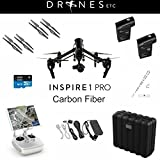 DJI Inspire 1 Pro Carbon Fiber Zenmuse X5 4K Camera Quadcopter with Extra TB48 Battery and Lanyard