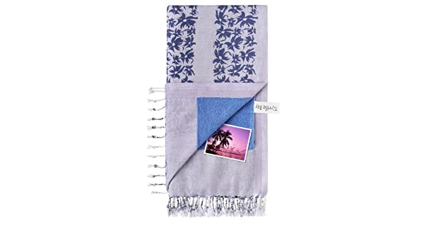 Turtle Bay - Toalla de playa / Pareo - Toalla de baño - Kikoy Towel Hawaiian Stripe - Color : Purple/Blue - Tamaño : 95 x 170 cms: Amazon.es: Hogar