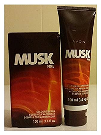 Avon Musk Fire Cologne And After Shave Conditioner.