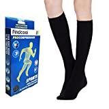 Findcool™ Medical Closed Toe Knee High Compression Socks 23-32mmHg for Women and Men Medical Calf Support Socks Graduated Compression (Black XXL)