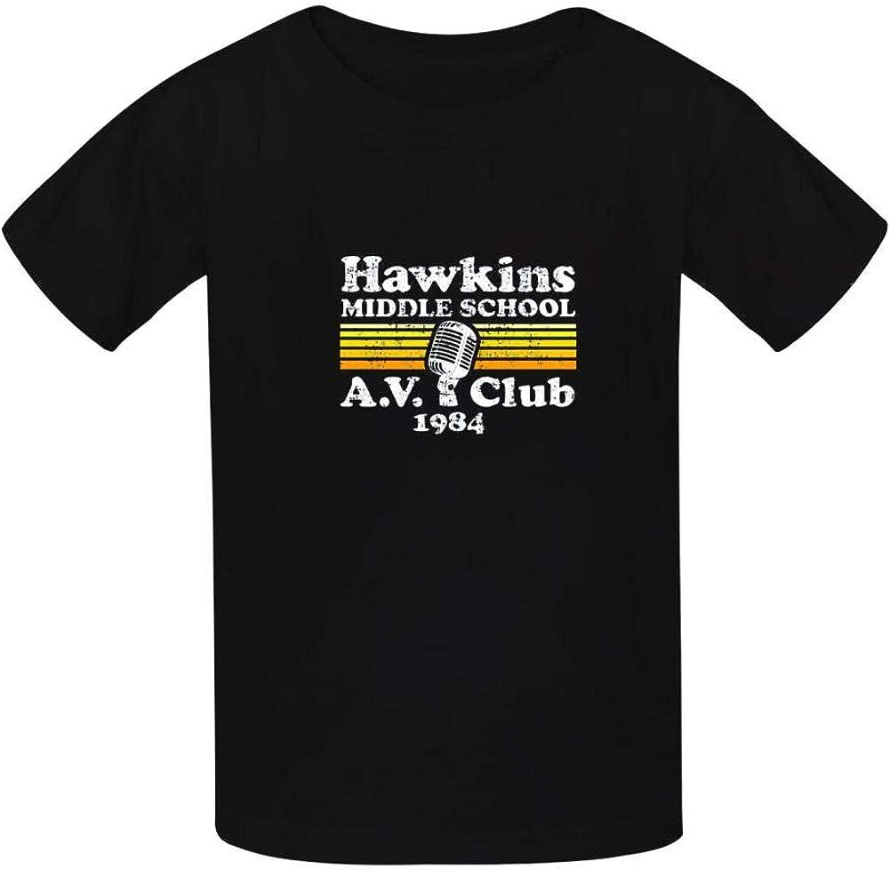 Club Unisex Baby Boys Crewneck Tees Short Sleeve Graphic T-Shirt KAJKJKSS Stranger Things School A.V
