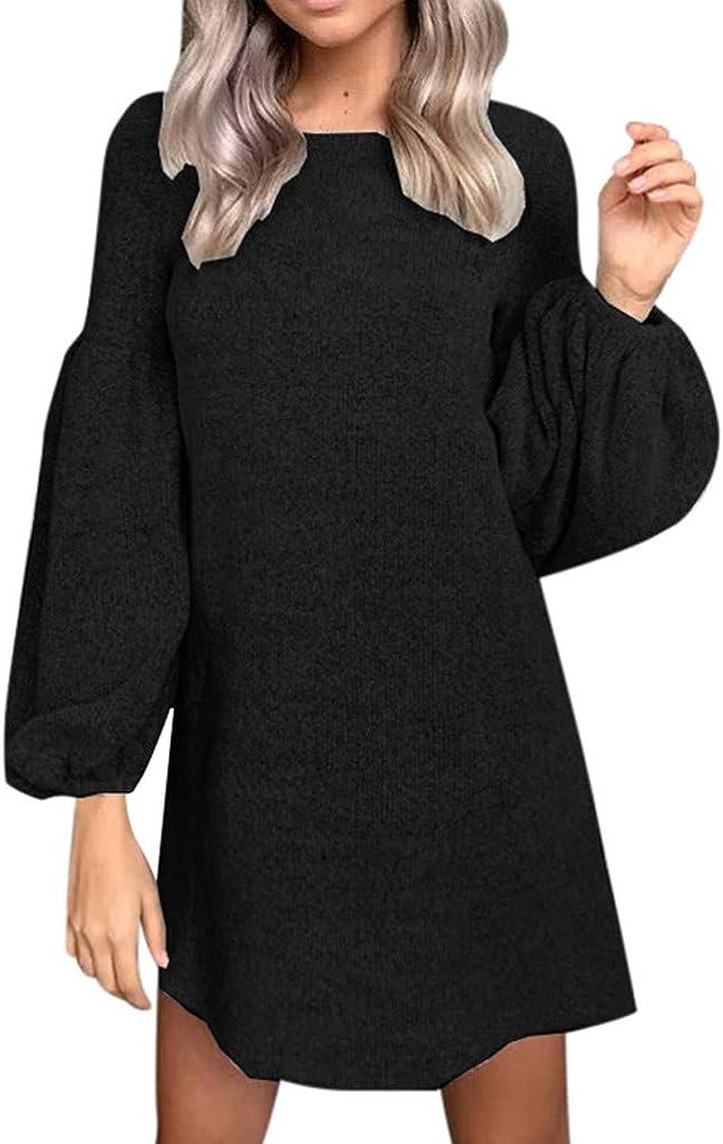 Femmes Robe Femmes Robe Automne Pull Tricot Stylé Dîner Décontracté