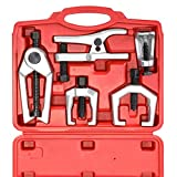 Orion Motor Tech 6pcs Professional Front End Service Tool Kit, Pitman Arm Puller, Ball Joint Separator Tie Rod Remover Tool (with Tool Case)