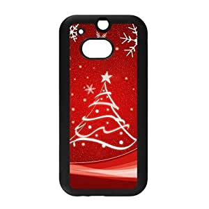 Cute Christmas Snowflake Design Snap on Hard Plastic Back Case Cover for Personalized Case for HTC One M8 Case-Perfect as Christmas gift(1)