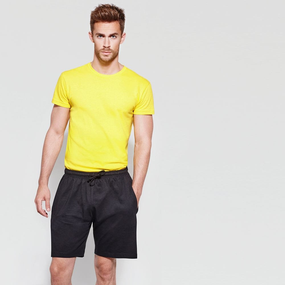 Mens Sport Shorts With Pockets 100/% Cotton Adjustable Draw Cord No Mesh Liner