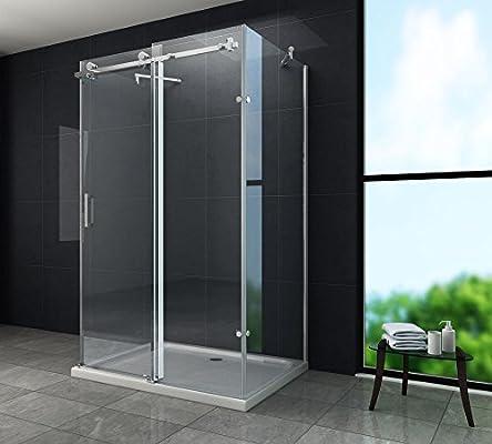 U-cabina de ducha madera de 8 mm con diseño de mampara de ducha de ...