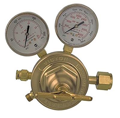 Victor Technologies 0781-0527 SR-450D-540 Heavy Duty Single Stage Oxygen Regulator, 5-125 psig Delivery Range, CGA 540 Inlet Connection