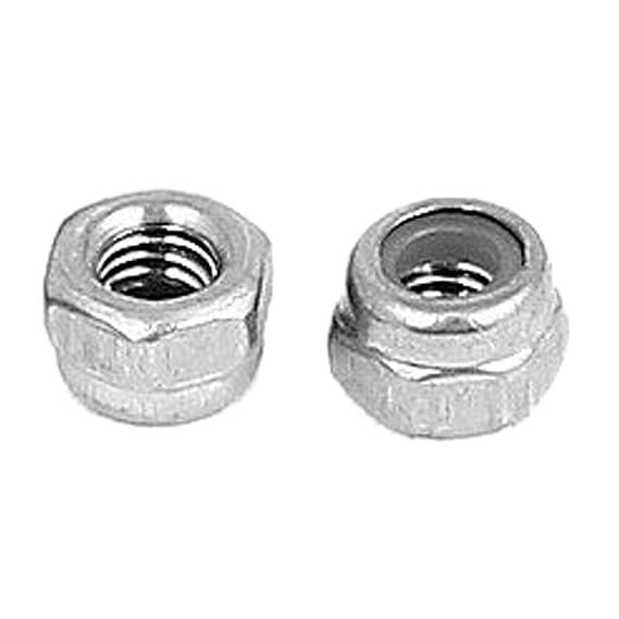 M3 Tuercas de seguridad de nylon - SODIAL(R)M3 x 0,5 mm Tuerca de seguridad hexagonal inseto de nylon de acero inoxidable 50pzs: Amazon.es: Bricolaje y ...