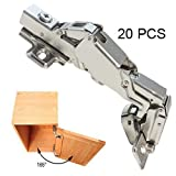 Gobrico Clip On Kitchen Cabinet Hinge 165 Degree Furniture Parts Hardware Soft Close Frameless Mounting 20 Piece