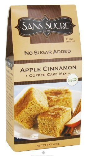 Sans Sucre Apple Cinnamon Coffee Cake Mix Sweetened With Stevia