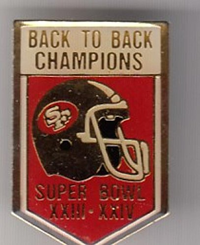 1990 Unocal San Francisco 49ers Super Bowl 23-24 Back to Back Champ Pin