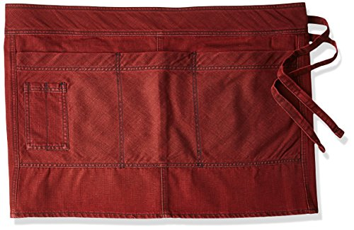 Chef Works Uptown Half Bistro Apron, Red/Navy, One Size by Chef Works