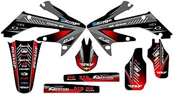 Senge Graphics Kit Compatible with Honda 2006-2007 CRF 250R Surge Black Graphics kit