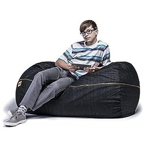Amazon Com Jaxx Sofa Saxx 4 Foot Bean Bag Lounger Dark