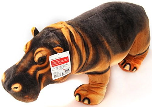 Harange the Hippo | 2 1/2 Foot Long Big Stuffed Animal Plush Giant Hippopotamus | Shipping from Pennsylvania & California | by Tiger Tale Toys