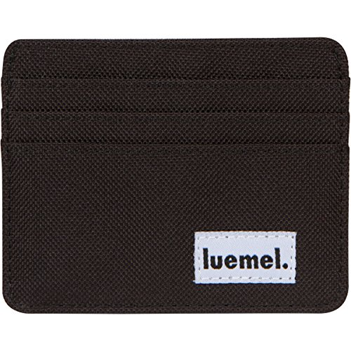 Wallet Slim Minimal Canvas Front Pocket Card Holder for Men & Woman â Animal Friendly Durable Stylish Small Size (Black) (Animals Mens Wallet)