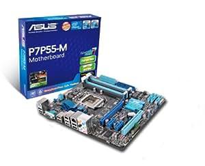 ASUS P7P55-M Intel P55 Socket H (LGA 1156) Micro ATX - Placa base (16 GB, Intel, Socket H (LGA 1156), Intel P55, micro ATX, 7.1 channels)